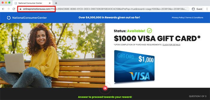 National Consumer Center Fake Ad