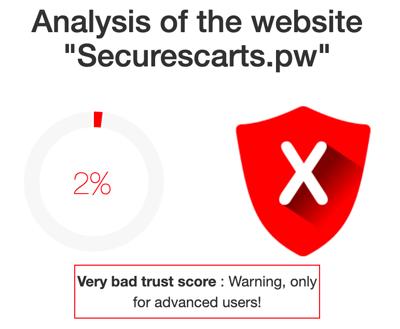 Securescarts bad trust score