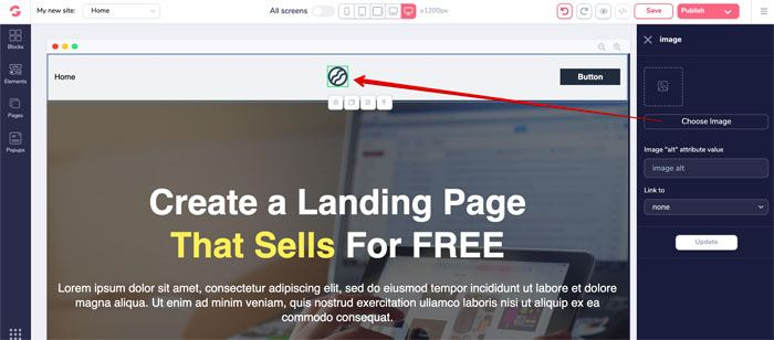 Create a landing page 3