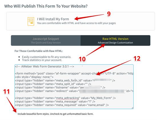Publish the form
