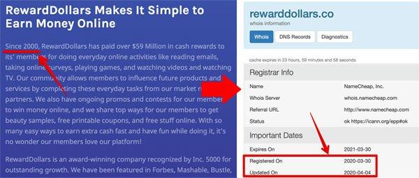 Reward Dollars Domain Registration
