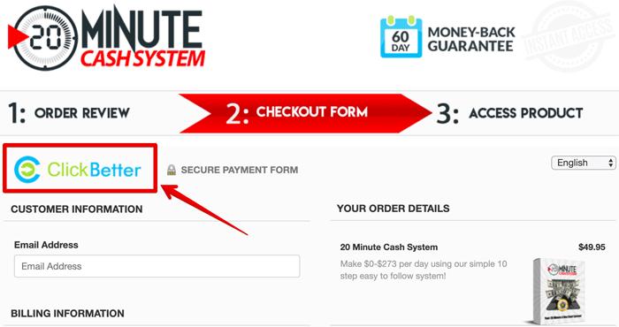 20 Minute Cash System ClickBetter