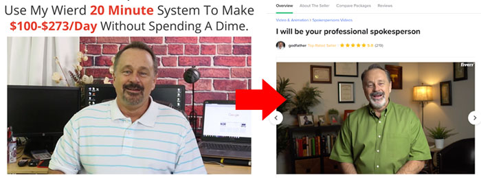 20 Minute Cash System Fake Testimonial