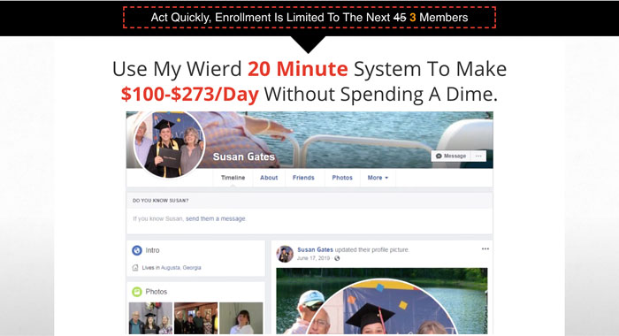 20 Minute Cash System Scam Review