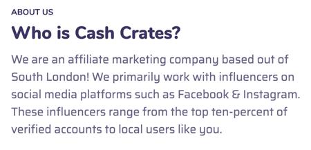 About Us Cash Crates