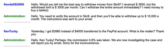 Money.xyz Fake User Communications