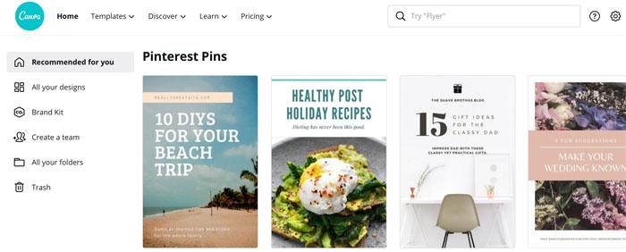 Canva Pinterest Templates