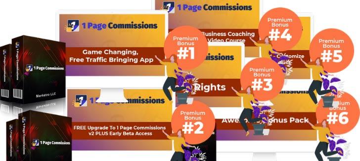 1 Page Commissions Bonuses