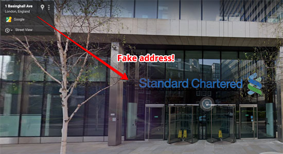 Pennywise Wealth Management Fake Address