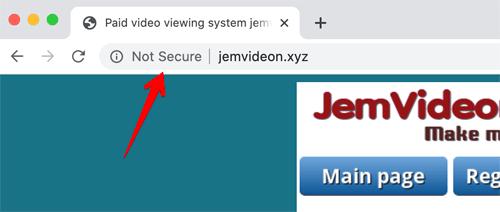 Videon Sites Not Secure