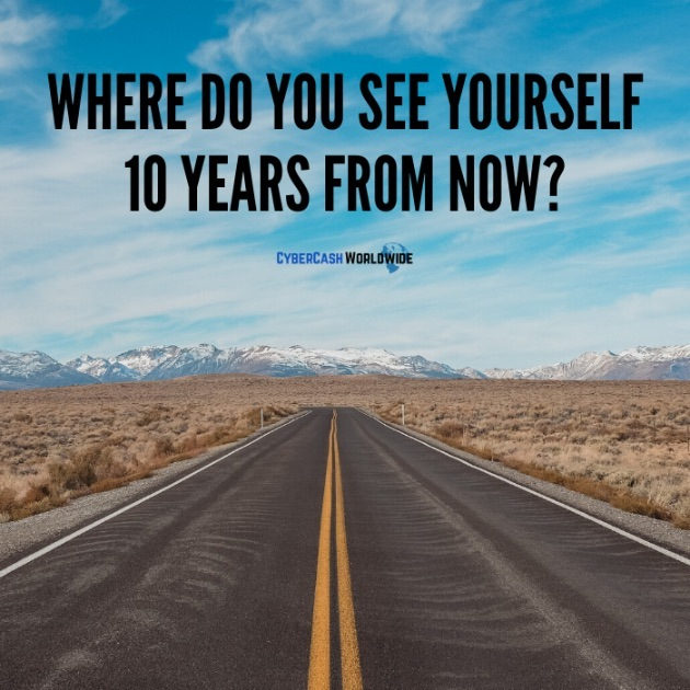 Where do you see yourself 10 years from now?