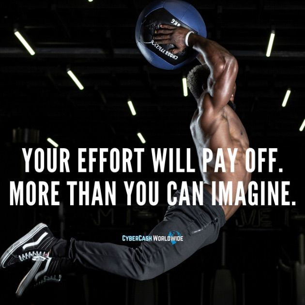 Your effort will pay off. More than you can imagine.
