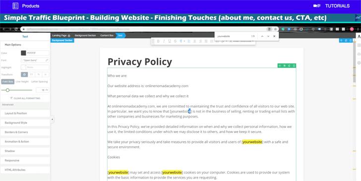 STB Building Website