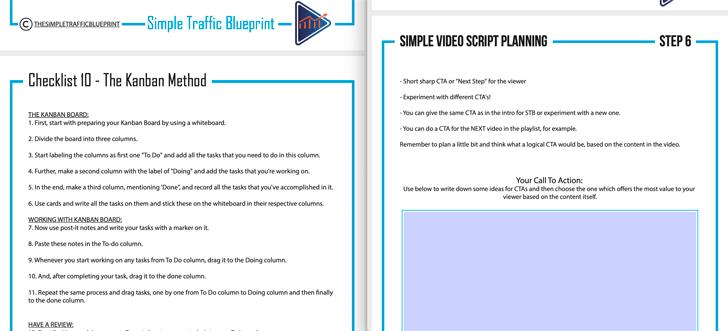Simple Traffic Blueprint Bonus Materials