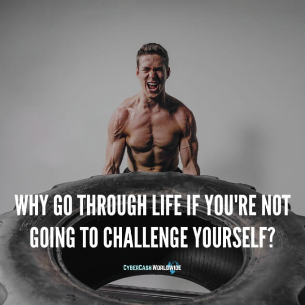 Why go through life if you're not going to challenge yourself?