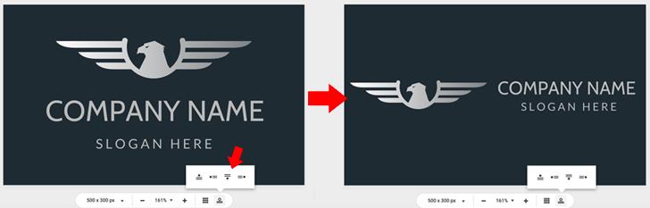DesignEvo Change Logo Position