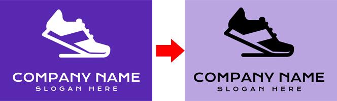 DesignEvo logo dark and light