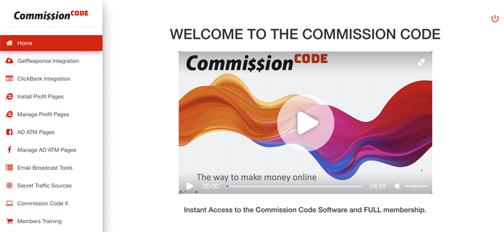 Commission Code Members' Area