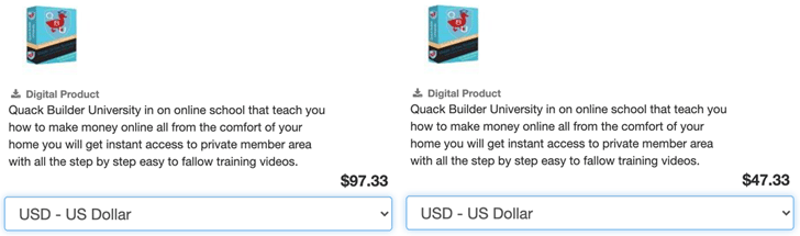 QBU Pricing Difference