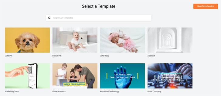 Select a Slideshow Template