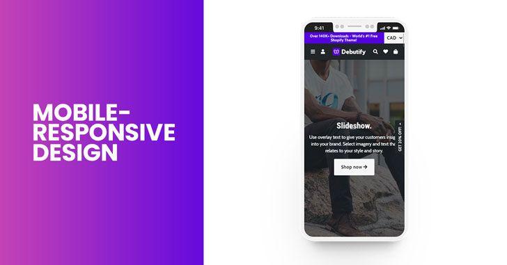 Debutify Mobile Responsive Design