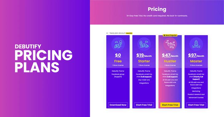 Debutify Pricing Plans