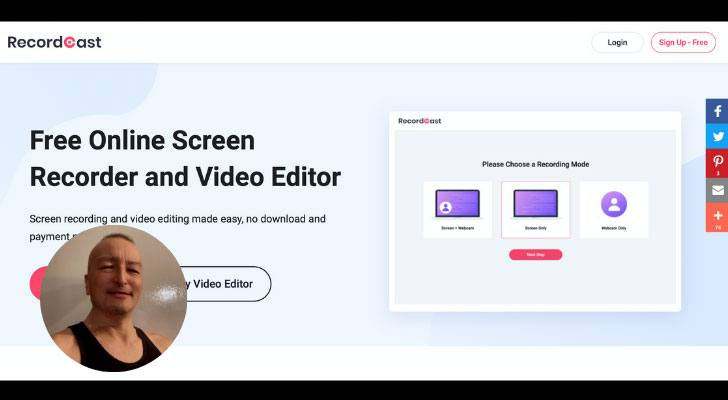 Free Online Screen Recorder RecordCast Review
