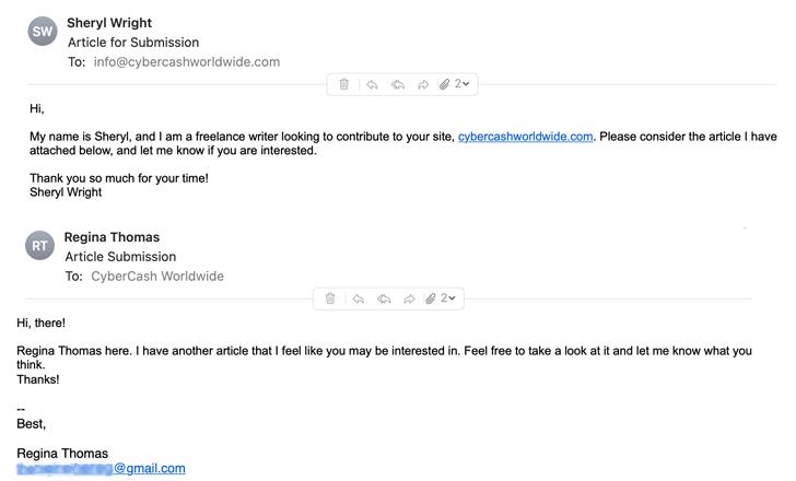 Fake Freelance Writers