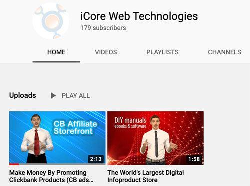iCore Web Technologies YouTube
