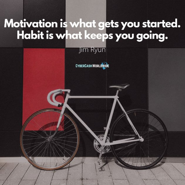 Motivation is what gets you started. Habit is what keeps you going [Jim Ryun]