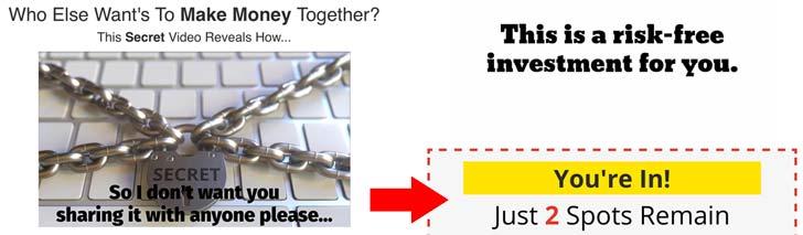 Jens Income Team Fake Scarcity