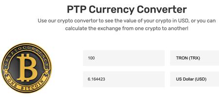 Passive Tron Profits Currency Converter