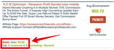 Recession Profit Secrets ClickBank
