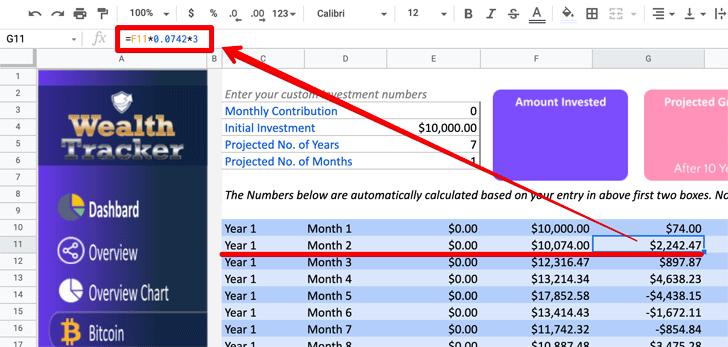 Wealth Tracker Spreadsheet